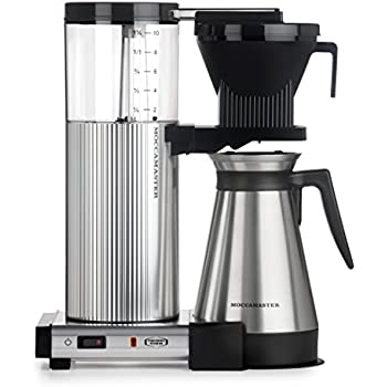 Moccamaster CDGT 10-Cup Coffee Brewer with Thermal Carafe, Polished Silver