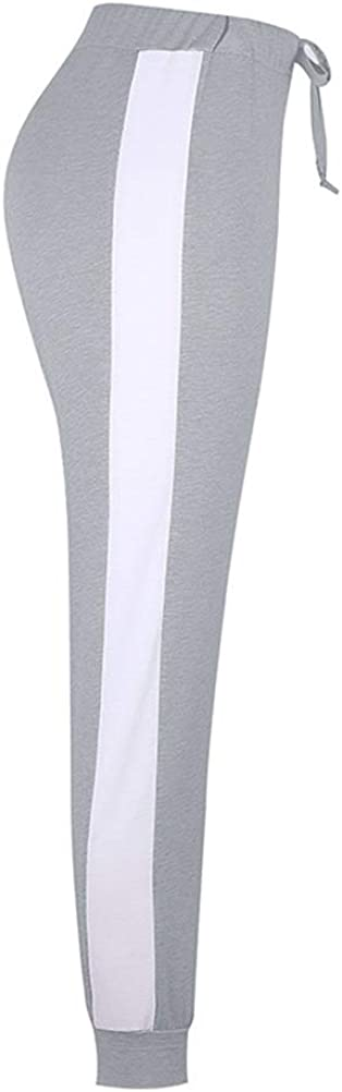 Onsoyours Damen Mode Streifen Trainingsanzug 2 St/ück Set Sweatshirt Top Lange Hose Frauen Mode Sport Yoga Outfit Jogginganzug Kurzarm /Ärmel