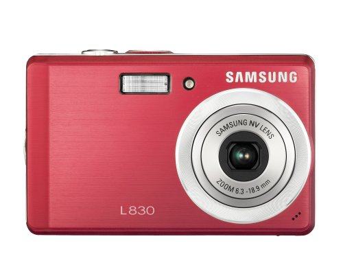 Samsung Digimax L830 8.1MP Digital Camera with 3x Optical Zoom (Red)
