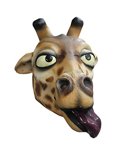Giraffe Adult Latex Mask Funny Cartoon Zoo Animal Comical Costume Accessory New -