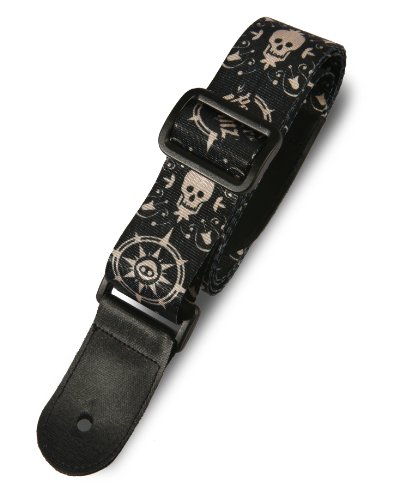 Zap Paper Jamz Guitar Straps - Skull and Compass