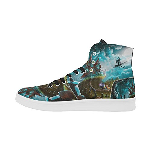D-story Scarpe Personalizzate Grunge Usa Bandiera High Top Retro Donna Sneaker Multicoloured19