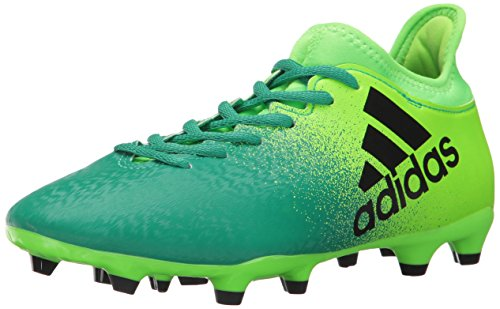 adidas Performance Men's X 16.2 FG Soccer Shoe, Solar Green/Black/Core Green, 9.5 M US (Green Cleats Soccer Adidas)