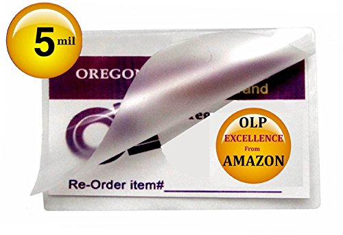 (Ship From USA) Qty 500 5 Mil Business Card Laminating Pouches 2-1/4 x 3-3/4 Hot Glossy Laminator Sleeves / Oregon Laminations Offers Authentic Oregon Lamination Premium Laminating Pouches via AMAZON by Generic