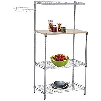 Amazon Com Tenive Baker S Rack Shelf Utility Stand