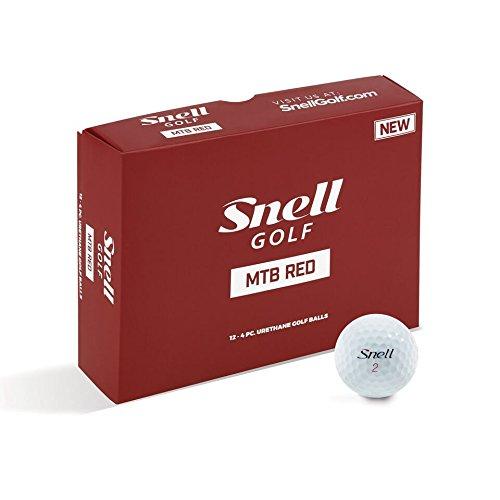 Snell MTB Red My Tour Golf Balls, White (One Dozen)
