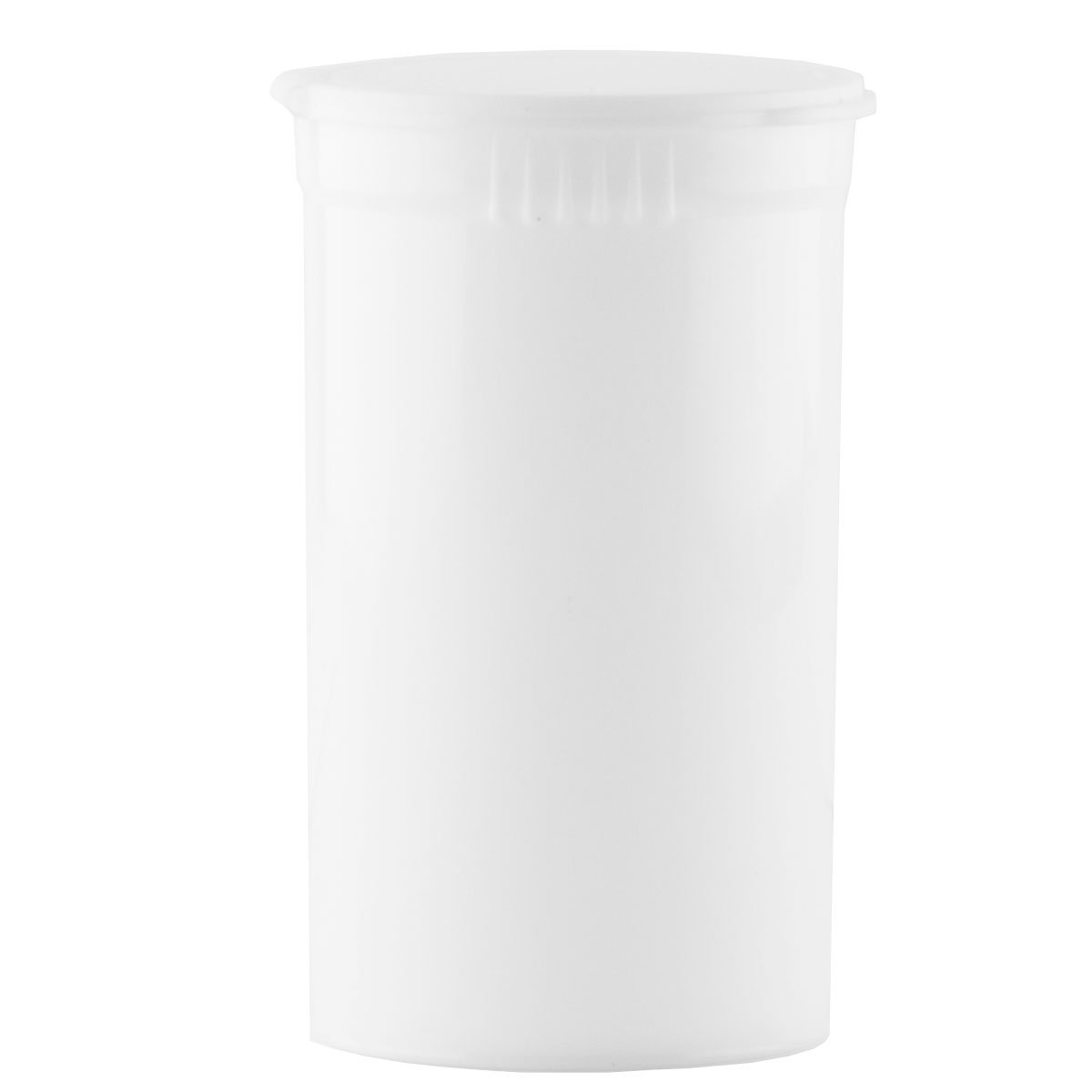 Child Resistant Pop Top Containers - 1 Case (White, 19 Dram)