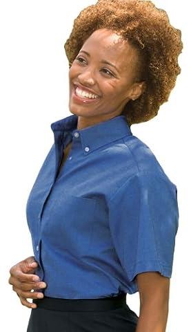 Ed Garments Women's Button Down Oxford Shirt, FRENCH BLUE, Large - Edwards Button Down Oxford Shirt