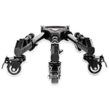 Neewer Professional Heavy Duty Tripod Dolly with Rubber Wheels and Adjustable Leg Mounts for Canon Nikon Sony Cameras Camcorder Photo Video Lighting