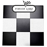 Alligator Board ALGSTRP16x16PTD-BLK/WHT Black and White Powder Coated Metal Pegboard Panels with Flange - Pack of 10