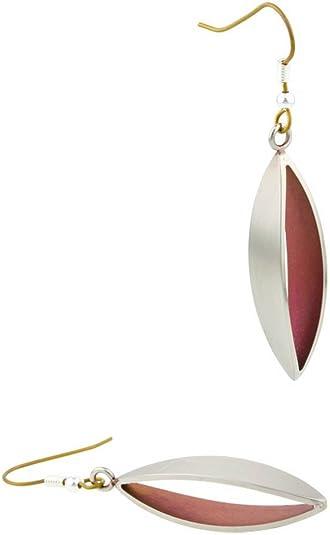 Ti2 Titanium 3D Drop Earrings - Coffee Brown HSZXqK8zXD