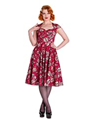 Hell Bunny Sasha Skull Love Punk Pinup Dress
