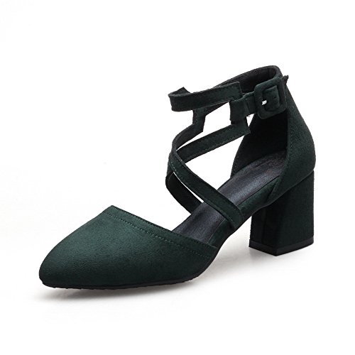 36 Femme 5 Vert Vert Sandales Compensées ASL05065 BalaMasa Militaire 80nwqHtvFx