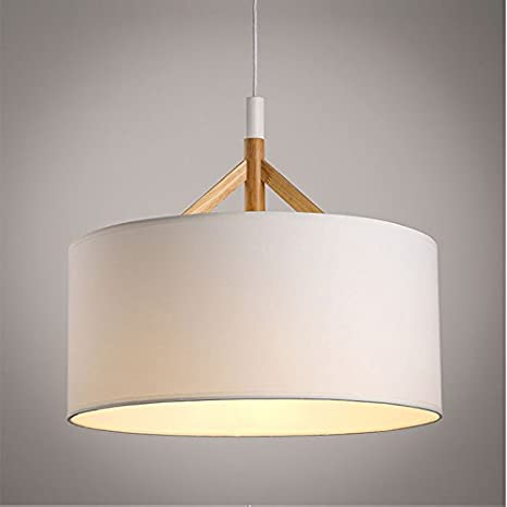 Oaklighting black white round fabric shade wood pendant light modern oaklighting black white round fabric shade wood pendant light modern pendant lamp for dining room aloadofball Images