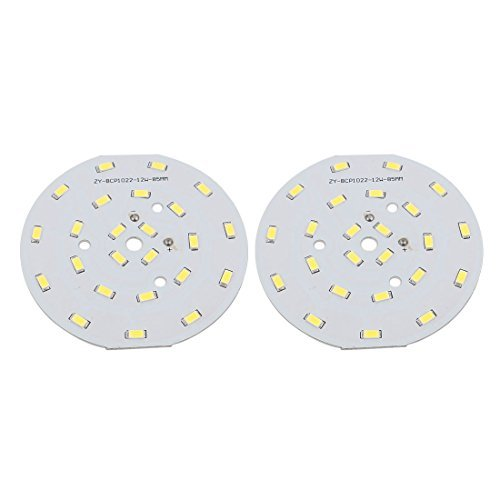 eDealMax 2pcs 85mm Dia 12W 24 LED 5730 High Power SMD Pure White LED Conseil Lampe de plafond