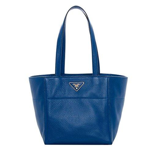 Prada Women's Grainy Tote Royal Blue