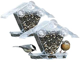 product image for Aspects155 Window Cafe Window Mount Bird Feeder Holds Variety of Seeds & Blends (2 Pack)