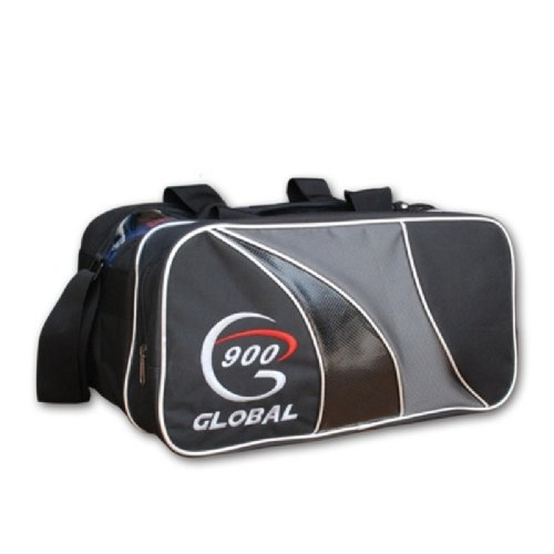 900 Global 2-Ball Tote Bowling Bag, Black/Gray