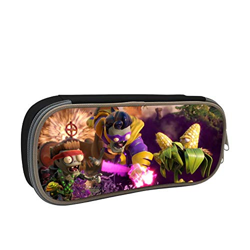Pencil Case Pen Bag Plants Vs Zombies Makeup Pouch Durable Students Cool Stationery with Double Zipper for Boys&Girls