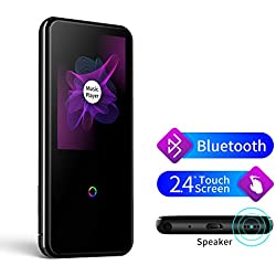 "MP3 Player with Bluetooth, 2.4"" Touch Screen Lossless Music Player with Speakers/FM Radio/Voice Recorder for Running Sports, Portable MP3 Players Support TWS Earphones up to 128GB"
