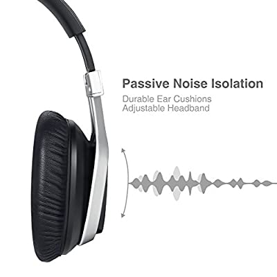 AudioMX Bluetooth 4.1 Wireless Headphones Passive Noise Cancelling Over-Ear Headsets with Microphone, 24 hour Playing Time