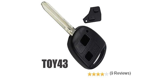 Carcasa Mando Llave 2 Botones para Coches Toyota Compatible Referencia Toy43