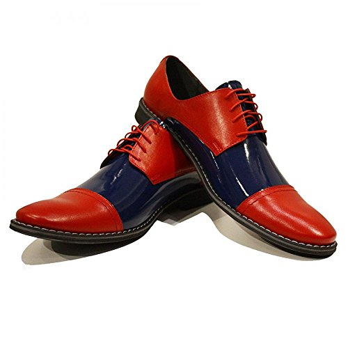 Modello Pietro - Handmade Colorful italiennes Chaussures en cuir Oxfords Casual Souliers de Formal Prime Unique Vintage Gift Lace Up Robe Hommes