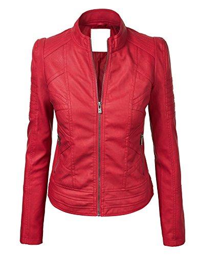 Womens Dressy Vegan Leather Jacket