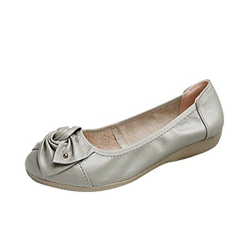 Travail Mocassins Semelle Femme Ballerines Argent Epaisse Chaussures Gris De Confortable Phorecys nSZqpXp