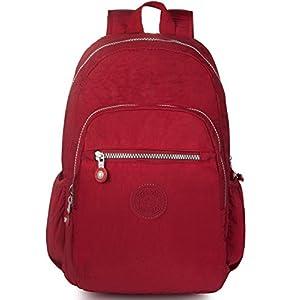 Oakarbo Mini Backpack Nylon Cute Travel Daypack (1318 Red)