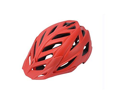 Yunqir Adult One-Piece Helmet Adjustable Bike Helmet Porous Mountain Bicycle Helmet(Red) by Yunqir