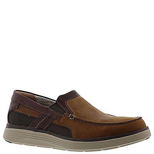 Tan Casual Loafers - CLARKS Mens Un Abode Free Casual Loafer, Light Tan Leather, 12 D(M) US