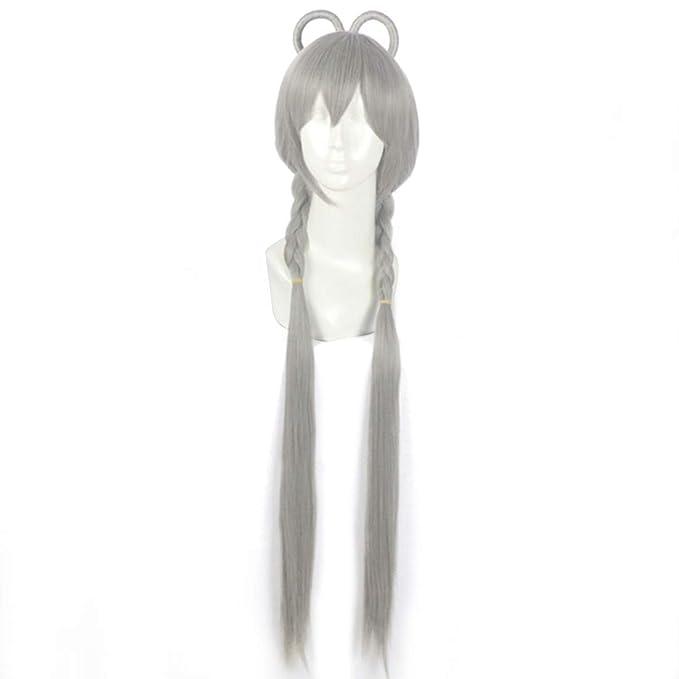 WEATLY Gris Estilo Doble Mariposa Clip Cos Anime Peluca Mecanismo Rosa Neta Peluca (Shape : B Hairstyle): Amazon.es: Hogar