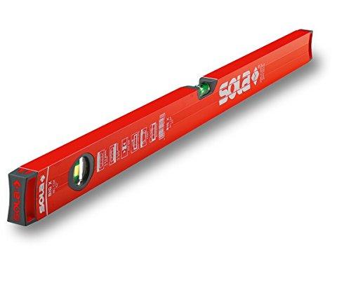 Sola BIG X Rohrprofil-Wasserwaage 80 cm - Messwerkzeug zum messen markieren - Blendfreies Arbeiten und leichtes Ablesen der Messergebnisse durch reflexionsfreie Lackierung SOLA-Messwerkzeuge GmbH