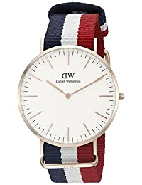 Daniel Wellington Men's 0103DW Classic Cambridge Watch with Multicolor Band