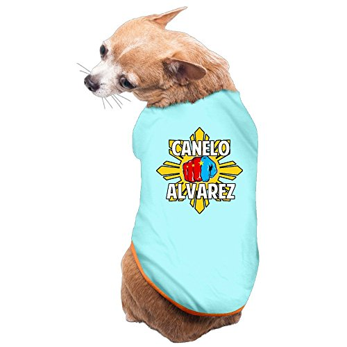 Knockout Boxer Costumes (Greenday Boxing Game Logo Boxer Cute Doggy Pets Costumes Size M SkyBlue)
