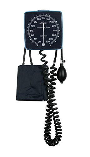 Medline MDS9400 Aneroid Blood Pressure Monitor, Wall Mount, Latex, Adult Size -