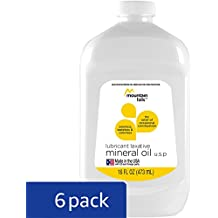 Mountain Falls Lubricant Laxative Mineral Oil for Relief of Occasional Constipation, 16 Fluid Ounce (Pack of 6)