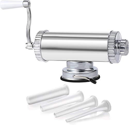 Horizontal Sausage Stuffer Maker Aluminum Meat Filler Kit 4 Sizes of Food Grade Sausage Tubes For Home Use