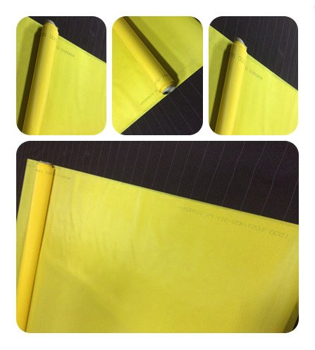ETPUVIUMBE Screen Printing 250Mesh 100T Yellow 50inch(1.27m) Width 3Yard(2.7m) Lenth for Manual Screen Printing Machine by ETPUVIUMBE