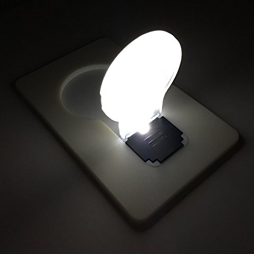 Inovat 10PCS / 10 x mini led credit card / portable / card pocket light bulb lamp christmas card / switch card sharp led light bulb White card With White color Light