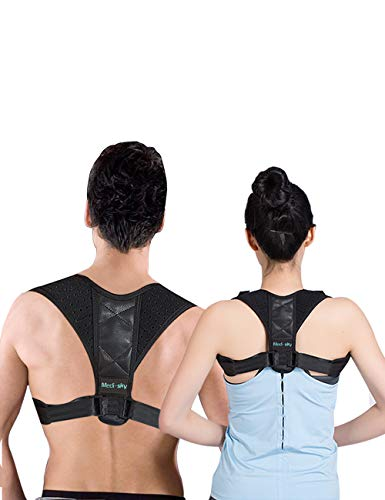 Posture Corrector for Men & Women, Comfortable Adjustable Upper Back Support and Neck Pain Relief?Slouching &Hunching Clavicle Brace - MEDI SKY