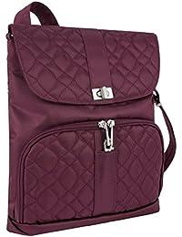 Women's Anti-Theft Signature Messenger Bag, Wineberry