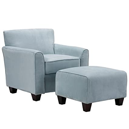 best cheap 0a296 c071c Amazon.com: Park Avenue Sky Blue Hand-tied Accent Chair and ...