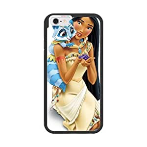 The best gift for Halloween and Christmas iPhone 6 4.7 inch Cell Phone Case Black The beautiful Disney Princess Pocahontas GON6226863