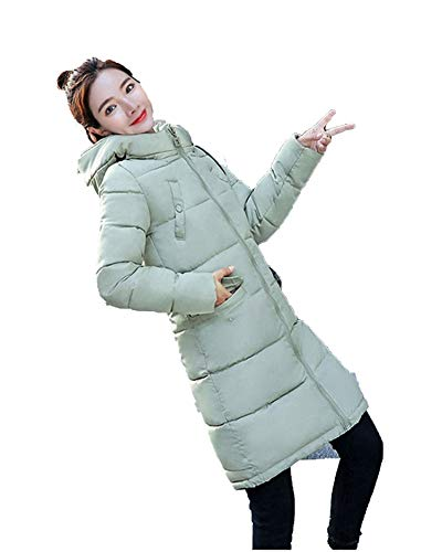Rotor System Tail - et Parkas 2018 New Women Hooded Coat Plus Size Thick Warm Top Slim Girl,Light Green,L