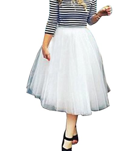 Jupe tutu Rockabilly Jupon couleurs Femme courte en Pettiskirt Blanc varies tulle 6xtIROOwq