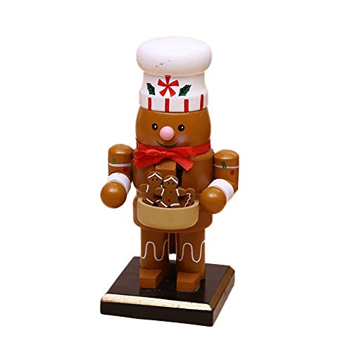 O-Toys Wooden Nutcracker Ornaments Christmas Decoration Figures Puppet Toys Christmas Gifts Home Decor (6 Inch) (Cookie)