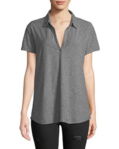 James Perse Short-Sleeve Curved Hem Polo ()
