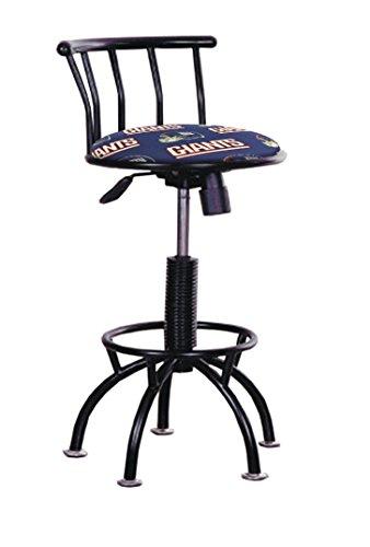 - The Furniture Cove 1 - Black Metal Finish Swivel Seat Adjustable 24